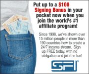 GRAB UP TO A $100 SIGNING BONUS WHEN YOU JOIN THE WORLD'S #1 AFFILIATE PROGRAM